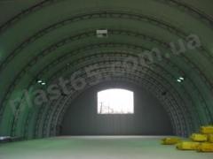 Ангари напівкруглі під ключ, будівництво ангарів в Україні