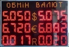 Біжуча стрічка, Інформаційне табло, Виготовлення обмінника валют