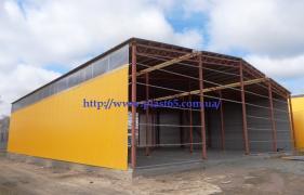 Будівництво швидкомонтованих ангарів, складів в Україні