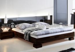 Двоспальне ліжко Аннэт з натурального дерева