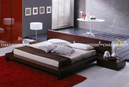 Двоспальне ліжко Тиша з натурального дерева