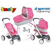 Дитяча коляска для ляльок 3в1 Smoby Quinny Maxi Cosi