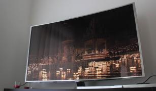 """JS9000 серії Samsung 65""""-класу з роздільною здатністю 4K Согдійської Смарт 3D вигнутий світлодіодний телевізор"""