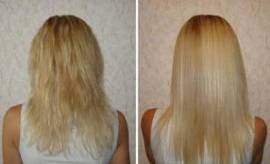 Кератинове випрямлення (лікування) волосся