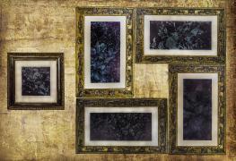 колажі-картини в різній стилістиці