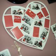 Красива фоторамка-колаж Серце на 16 фотографій