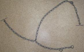 Ланцюг зварна трехконцевая для прив'язі і водіння великої рогатої