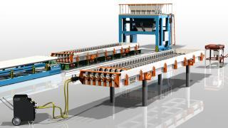 Лінія з виробництва пустотних плит ПК