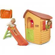 Лісовий будиночок Smoby + гірка Smoby 310151