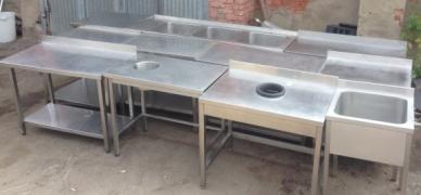 Меблі з нержавіючої сталі на замовлення для їдальні та ресторани