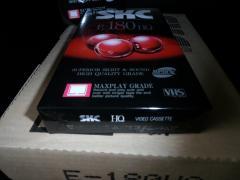 Нові відеокасети VHS SKC E-180HQ