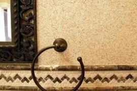 Обробка камінцева штукатурка ( баранець )
