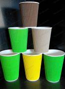Одноразові стаканчики гофровані