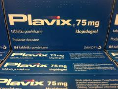 Оригінальний Плавикс Plavix 75 мг клопідогрелю. Sanofi Франція