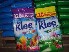 Порошки для прання Klee, Power Wash, Ariel, Gallus, Purox, Pra