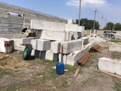 Продам ж/б ферми 12м, блоки ФСБ-40 нові