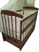 Promotion! Set: Dresser+ crib pendulum Natalka+ mattress + post