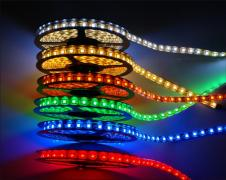 Світлодіодна стрічка всі кольори, комплектуючі для гірлянд