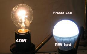 Світлодіодні лампи 5-15W, LED E27E14C37G45 лампочка лід