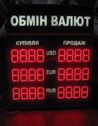 Виготовлення світлодіодних табло, Табло обмін валют