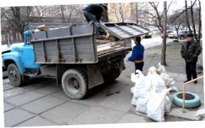 вивіз будівельного сміття, грунту, меблів, послуги вантажників